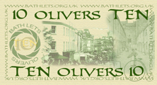 TEN OLIVERS - back of printed notes